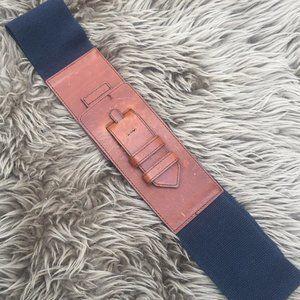 Anthro brown black leather belt - Size M